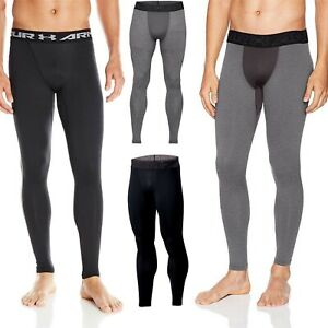 Under Armour ColdGear Armour Compression Leggings Black Anti-odor Base Layer