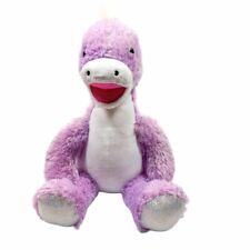 "Build A Bear Purple Silver Sparkle Stegosaurus Dinosaur Plush 17"" Stuffed Toy"