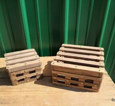 SET OF 2 Wooden Hinged Boxes