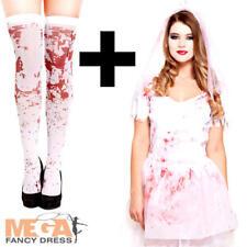 Bloody Bride Ladies Halloween Fancy Dress Ghostly Wedding Womens Adults Costume