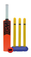 Gunn & Moore Opener Molded Bat Stumps Rubber Ball Youth All Weather Cricket Set