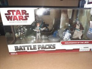 Rare! star wars action figure legacy 2009-battle pack resurgence of the jedi