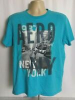 Aeropostale Aero NY New York Blue Graphic Tee T-Shirt Size Medium