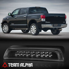 Fits 2007-2018 Toyota Tundra [Black/Clear] LED Third 3rd Brake Light+Cargo Lamp
