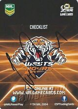 ✺Signed✺ 2017 WESTS TIGERS NRL Card IVAN CLEARY