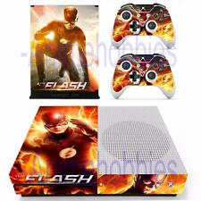 Xbox One S Slim Console Skin The Flash Vinyl Decal Stickers Cover Controllers