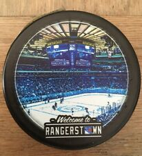 NY RANGERS HOCKEY PUCK RANGERSTOWN SPECIAL LOGO NHL LIMITED EDITION MSG NYC