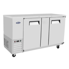 """Atosa Mbb69 68"""" Back Bar Bottle Coolers 2 Door Stainless Steel 21.5Cu.Ft"""