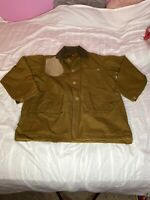 Bullseye Bill Vintage Waxed Canvas Hunting Jacket  Water Repellent EUC Rare Find
