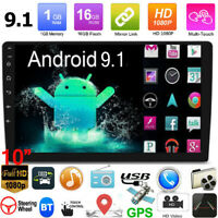 """10.1"""" Android 9.1 Quad-Core Car Stereo MP5 Player GPS Navi BT WiFi AUX FM Radio"""