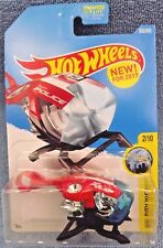 2017 Hot Wheels #353 HW City Works 2/10 SKY FI Police Chopper Red/Black