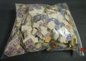 U.S.A. Old Stamps Large Bag, 1000's & 1000's Of Stamps, Used, 3.4 Lbs