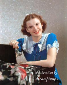 JUDY GARLAND 1938 Oversized 11x14 Color Portrait BLUE BELLE