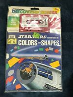 STAR WARS READ ALONG BOOK & TAPE sealed vintage 1979 cassette COLORS AND SHAPES