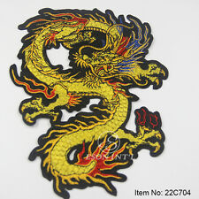 Dragon Clothes Patches Embroidery Lace Fabric Motifs Applique Sew On Decoration