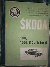 SKODA 100 - 100L - 110L 1970 1971 : Catalogue de pièces détachées
