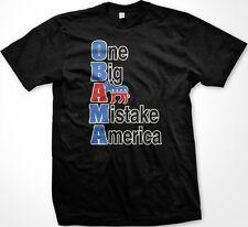 O.B.A.M.A Obama One Big Ass Mistake America Funny Political Slogans-Mens T-shirt