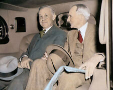 """HENRY FORD 1938 AMERICAN INDUSTRIALIST 8x10"""" HAND COLOR TINTED PHOTOGRAPH"""