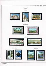 Tema Europa. Colección de sellos nuevos de los años 1976a 1983. Valor 1352 Euros