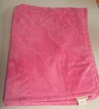 Pottery Barn Kids Hot Pink Thick Plush Baby Blanket 30X38 EUC