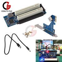 PCI-E Express X1 to Dual PCI Riser PCI-E 1x to 16x USB 3.0 Extend Adapter Card