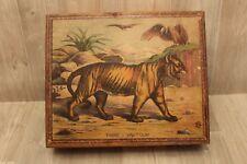 Très ancien Puzzle cubes bois thème animaux Tigre Vautour