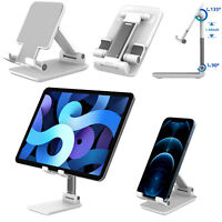Adjustable Cell Phone Stand Holder Desktop Mount For iPhone Samsung iPad Tablet