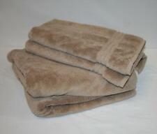 2 Hotel Collection Turkish Bath & 2 Hand Towel Set Solid Sandstone khaki Tan