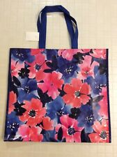NEW Large Floral Shopping Bag Pink Blue Flowers Reusable Eco Tote Marshalls