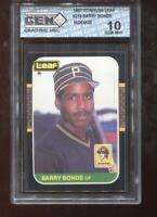 Barry Bonds RC 1987 Donruss Leaf #219 Rookie GEM MINT 10