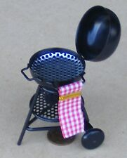 1:12 Scale Metal Barbecue Kettle Dolls House Garden Summer Food Accessory BBQ