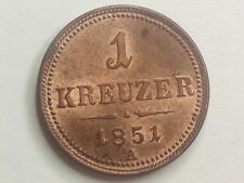 """1 Kreuzer 1851 A Wien Franz Josef   """" Erhaltung """"   W/17/265"""