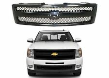 Replacement Textured Black Grill For 2007-2013 Chevrolet Silverado New Free Ship