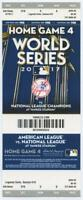 2017 MLB Baseball World Series New York Yankees Phantom Ticket Game 4
