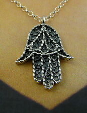 Scottish Ola Gorie Khamsa Sterling Silver Pendant Two Chains