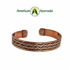 Copper Bracelet Men Women Arthritis Joint Pain 2 Powerful Magnets Natural Relief