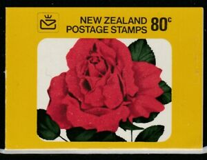 New Zealand 1977 8c QE II Roses Booklet 10 Stamps MNH
