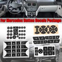 Steering Wheel Window AC Radio Button Sticker Decal For Mercedes W204