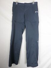Under Armour Womens Convertable Pants Size 6 (30x32) Gray Heat Gear Semi Fitted