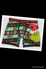 Men's Christmas Boxer Shorts Dr. Seuss The Grinch, Underwear Size Small Nwt
