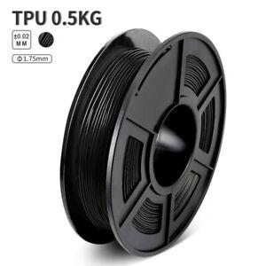 KAIGE TPU 3D Drucker Filament 1,75 mm 0,5 kg schwarz Weiches Material