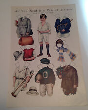 All You Need Is A Pair Of Scissors & A Little Girl Paper Doll - 1920's Magazine