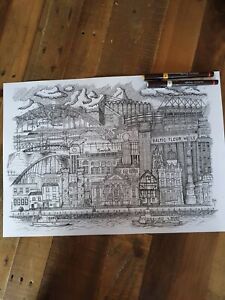 Art Print newcastle A3