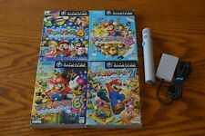 Nintendo Gamecube Mario Party 4 5 6 7 Japanese complete set+microphone US seller