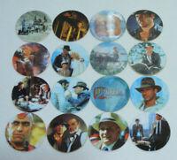 Lot de 16 BN TROC'S INDIANAN JONES 1995 N°120 111 Pogs/Caps/Tazo/Paddles/Comic
