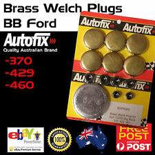 New BB Ford 370 429 460 Brass Welch Welsh Freeze Core Plug Set Gallery Kit