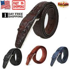Men Alligator Belts Fashion casual Genuine Leather   Crocodile Leather Belt us