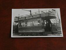 More details for original real photo postcard - bath electric tramways - transportation.