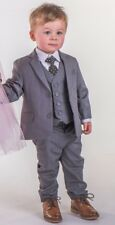 Boys Suits Boys Grey Suit Boys Wedding Suit Page Boy Party Prom 5 Piece Suit