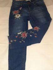 Sandpiper jeans size 8 petite floral design